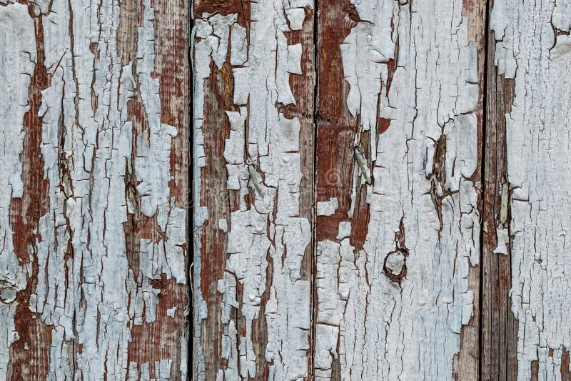 Lantlig wood textur med naturliga modeller för sprucken målarfärg ytbehandlar som bakgrund royaltyfri fotografi