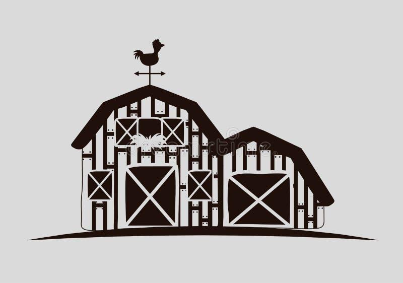 Lantliga och lantgårdsymboler vektor illustrationer