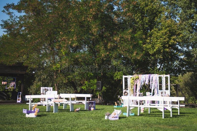 Lantligt bröllopställe arkivbild