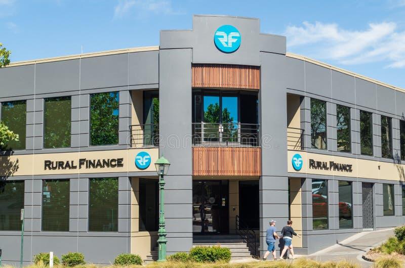 Lantligt finanskontor i Bendigo, Australien royaltyfri bild