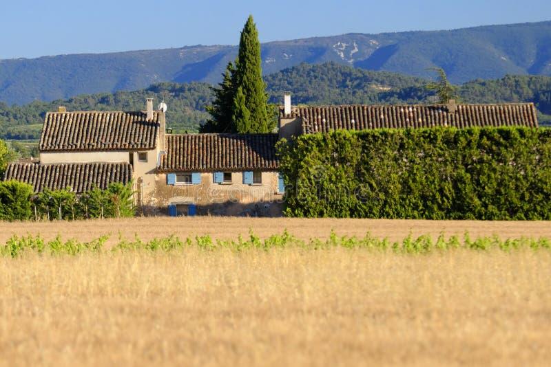 Lantligt hem i Provence, Frankrike royaltyfri bild