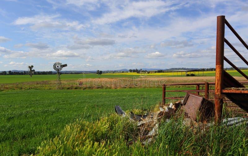Lantligt landskap Australien för vildmark arkivbild