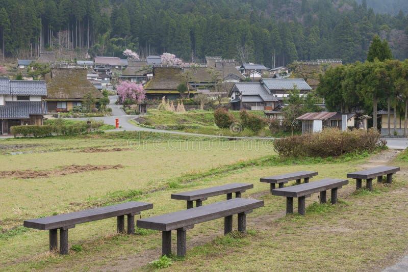 Lantligt landskap av Kyoto, Japan royaltyfri bild