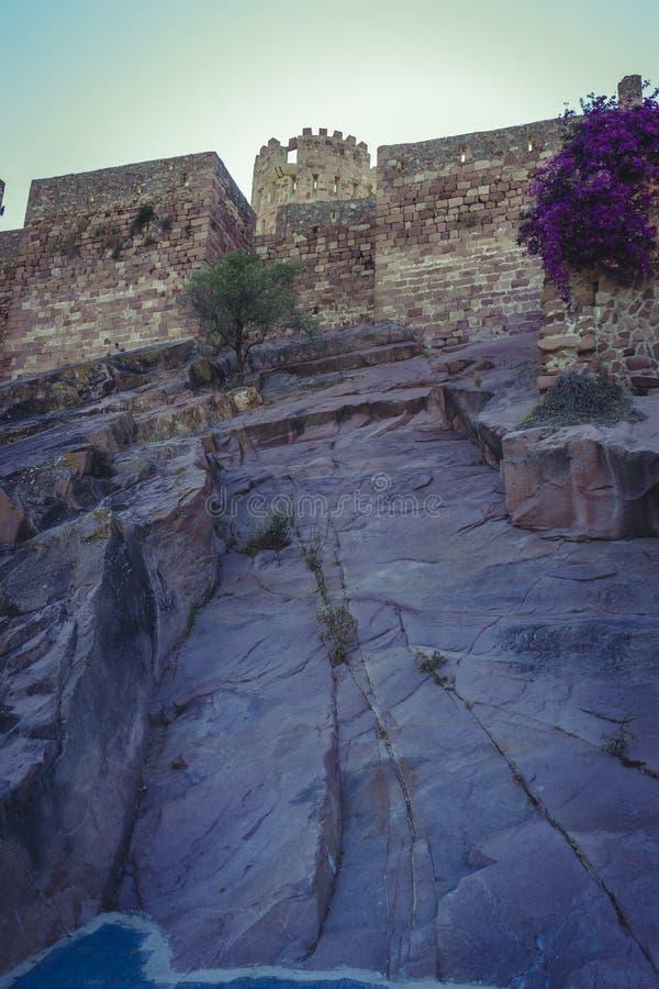 Lantligt landskap, Villafamés lantlig villa i Castellon, Valencia royaltyfri foto