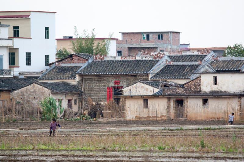 Lantligt liv i sydliga Kina arkivfoto
