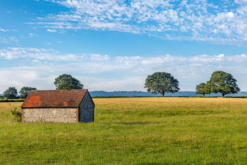 Lantligt Sussex landskap arkivfoto