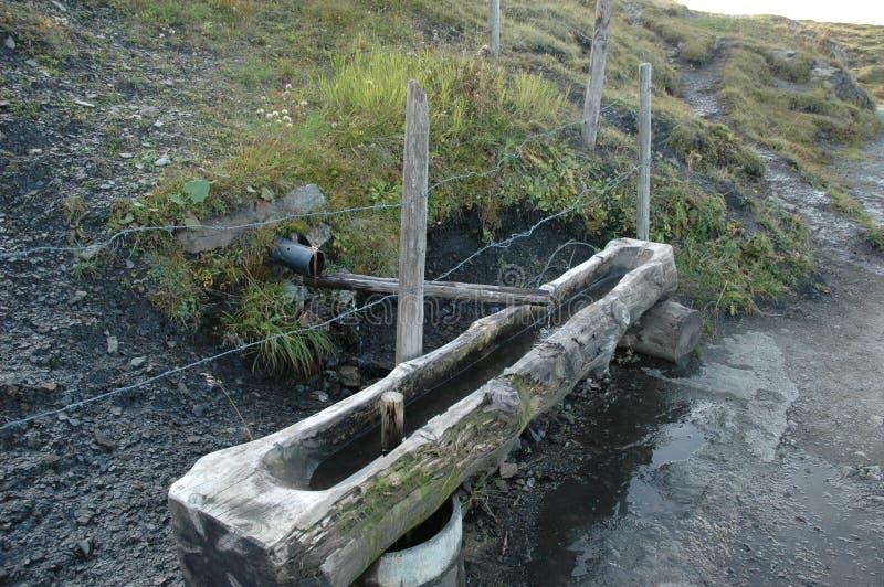 lantligt vatten för dränering royaltyfri bild