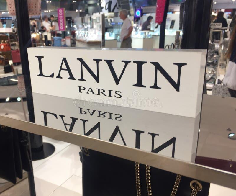 Lanvin Parijs, Frans maniermerk stock foto's