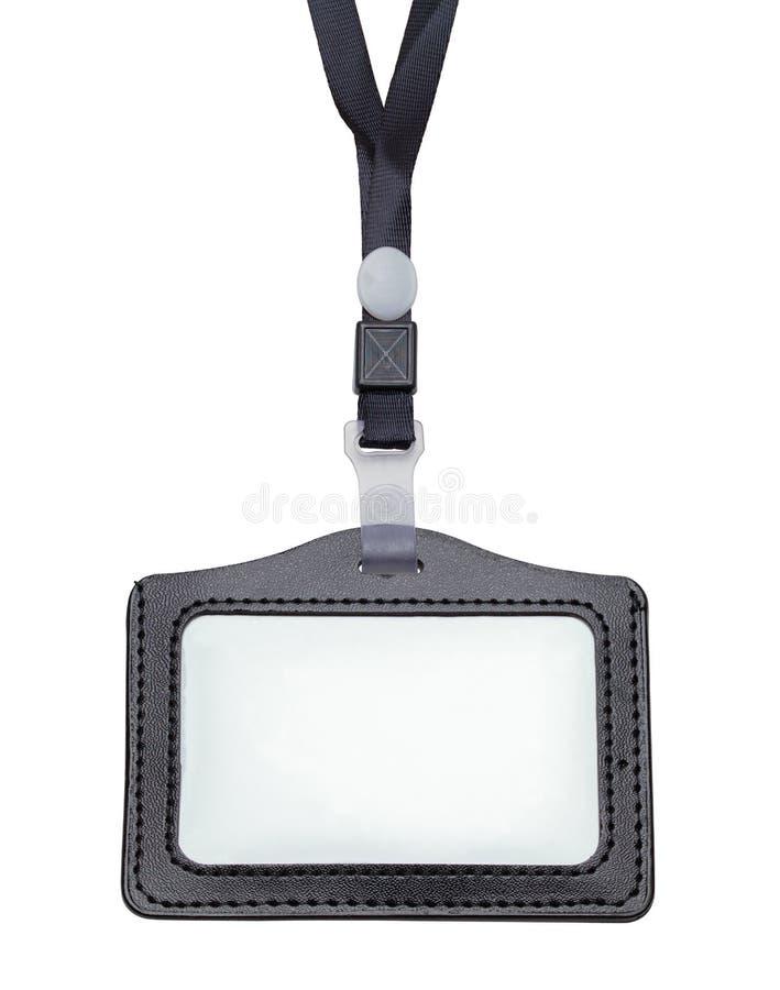 Lanyard Name Badge noir image stock