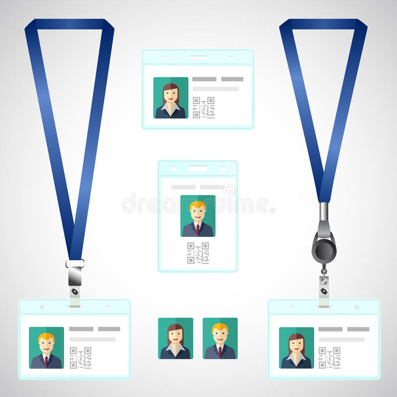 Lanyard, Name Tag Holder End Badge, Id, Template Stock Vector ...
