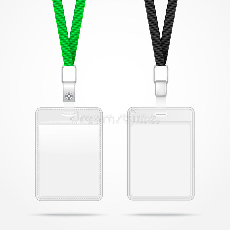 Free Lanyard With Tag Badge Holder. Stock Images - 41444534