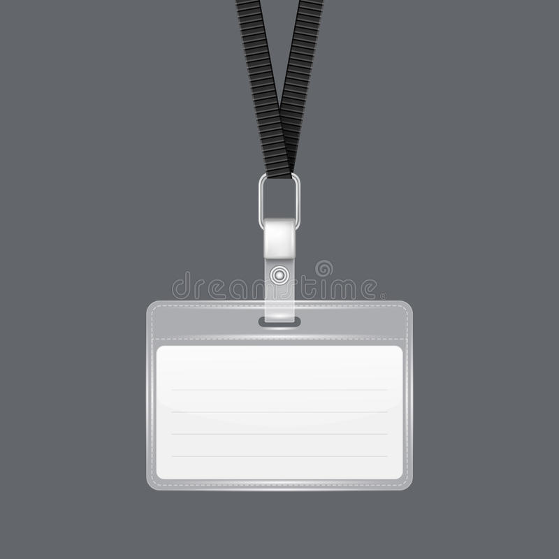 Free Lanyard With Tag Badge Holder. Royalty Free Stock Photo - 41444575