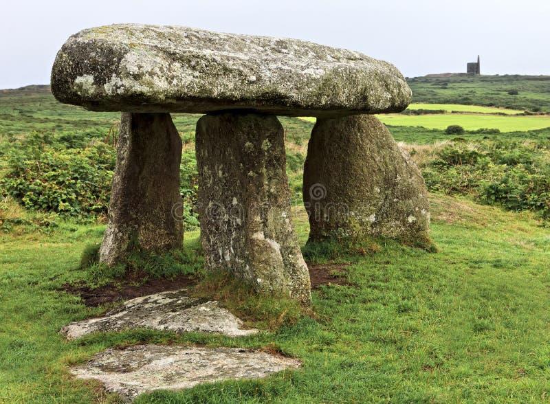 Lanyon圈环常设石头,半岛在康沃尔郡 免版税图库摄影