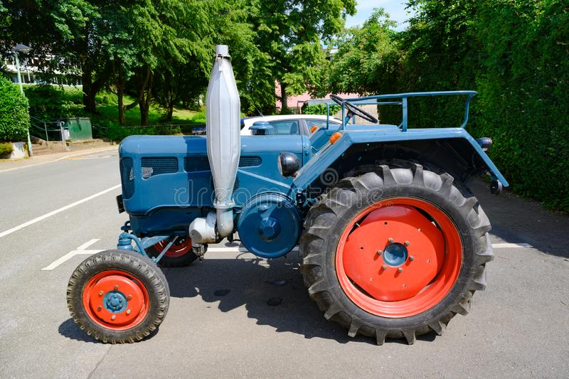 Lanz bulldog tractor with two-stroke, hot bulb engine. royalty free stock image