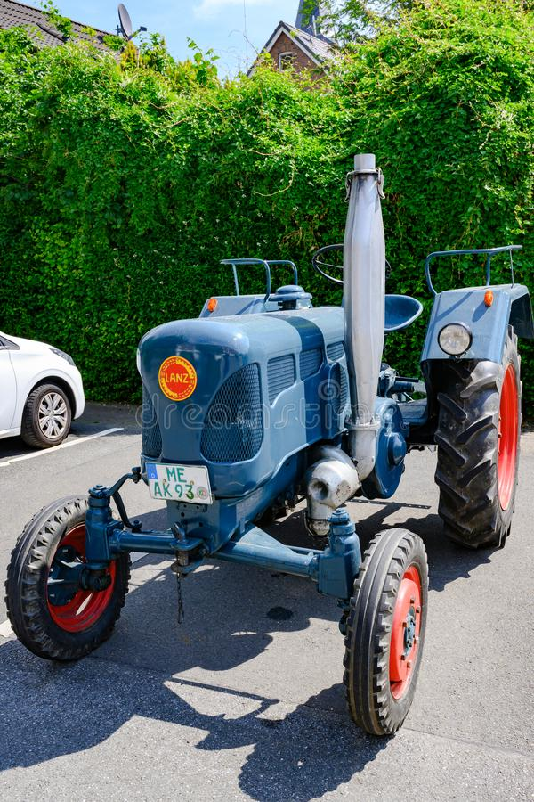 Lanz bulldog tractor with two-stroke, hot bulb engine. stock photo
