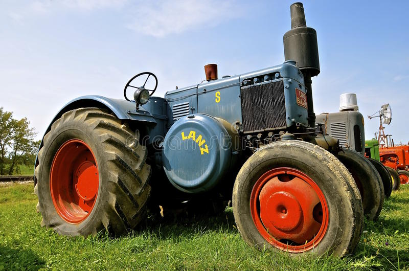 Lanz C German tractor. ROLLAG, MINNESOTA, Sept 1. 2016: The Lanz Bulldog was a tractor manufactured by Heinrich Lanz AG in Mannheim, Baden-W�¼ stock photos