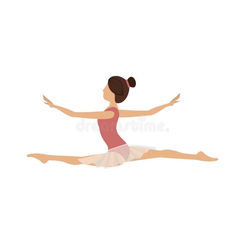 Lanza colorida de la posición del bailarín del bailarín ilustración del vector