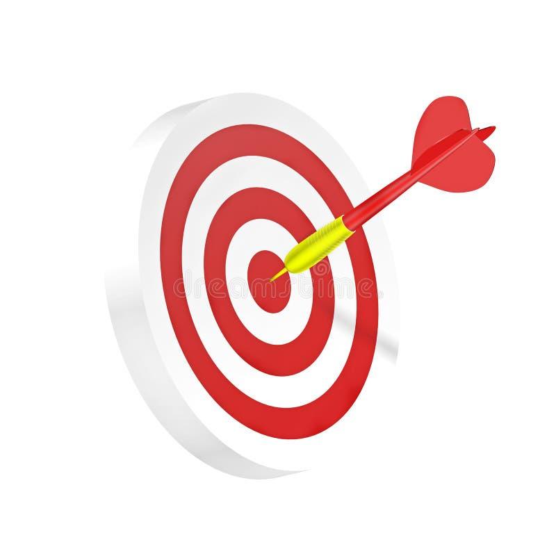 Lanza el símbolo del éxito de la estrategia o de asunto ilustración del vector