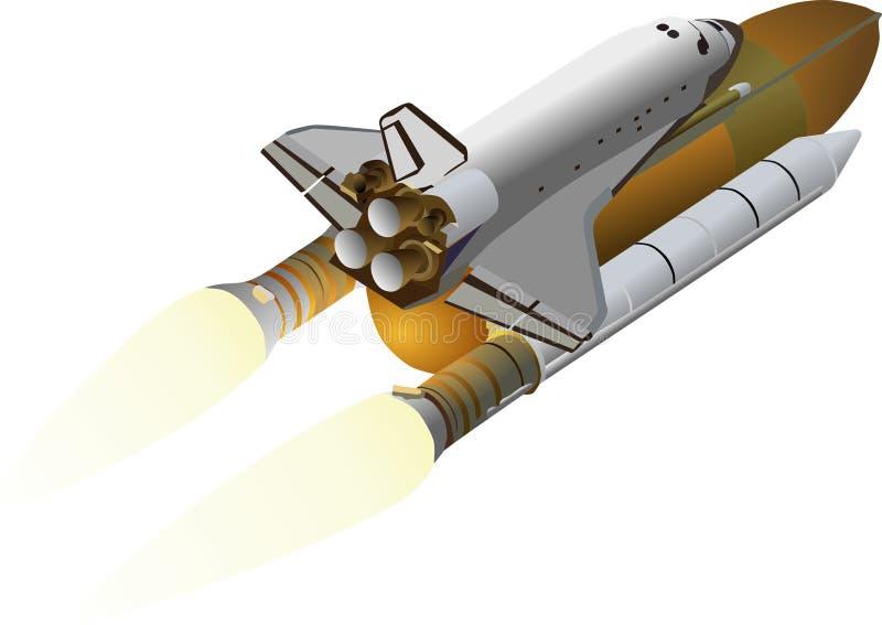 Lanzadera de espacio ilustración del vector