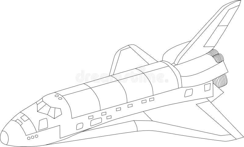Lanzadera de espacio de vector ilustración del vector