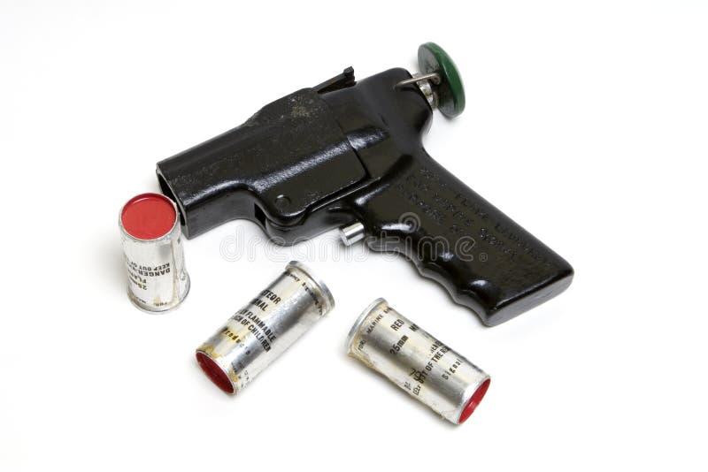 Lanzador de la flama con la munición fotografía de archivo