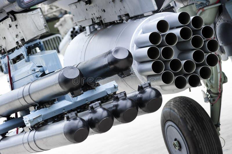 Lanzador de misil del helicóptero foto de archivo libre de regalías