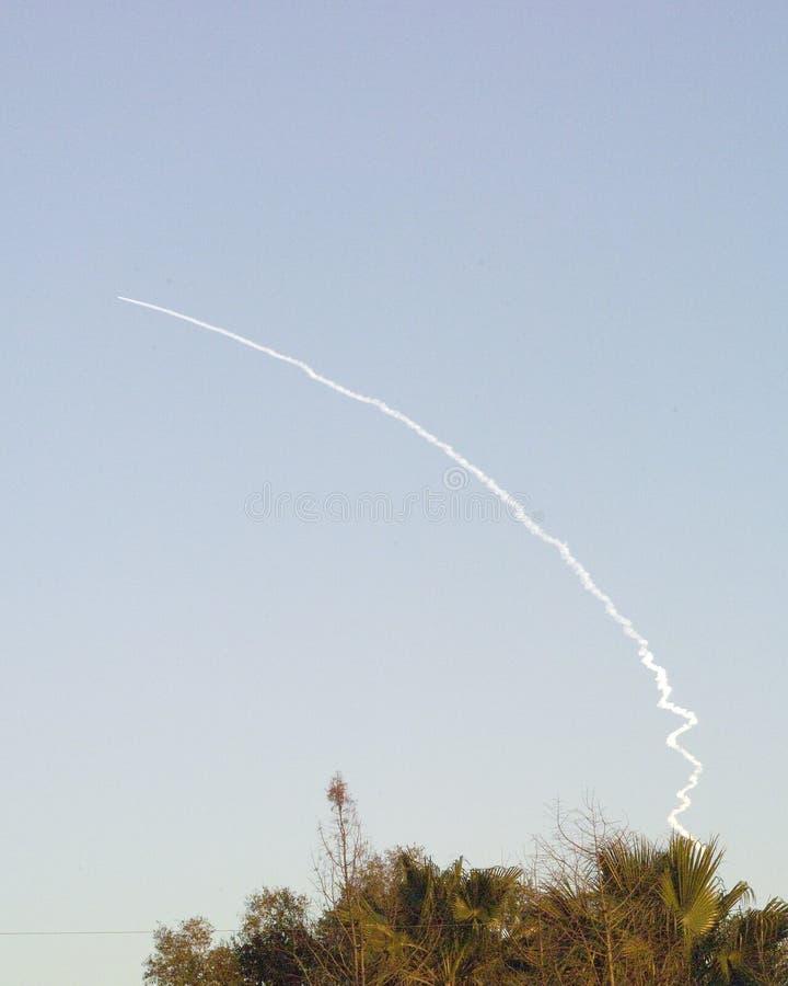 Lanzamiento 2007 de Rocket del delta fotografía de archivo