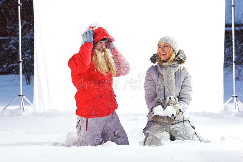 Lanzamiento al aire libre del estudio del invierno. foto de archivo libre de regalías