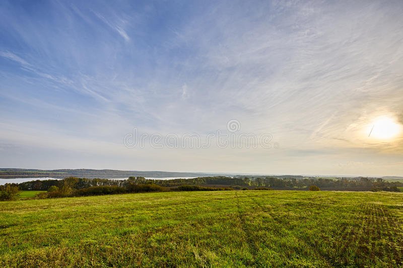 Lanzamiento de Hdr de un paisaje del otoño foto de archivo