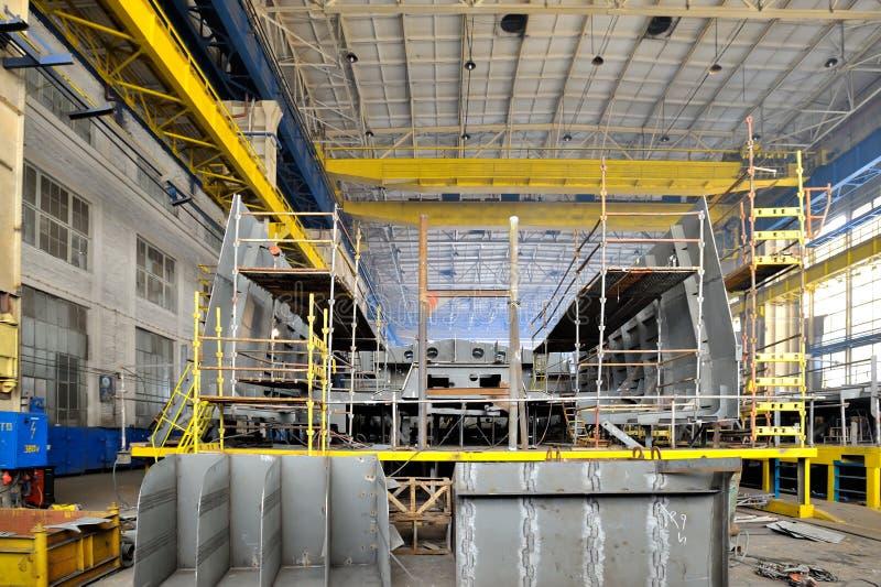 Lanzamiento de la construcción naval dentro imagen de archivo
