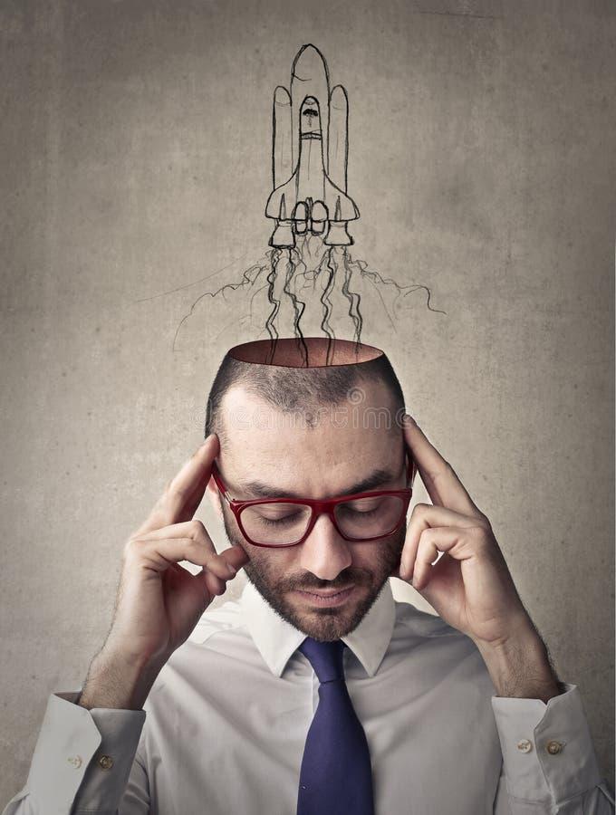 Lanzamiento de la mente stock de ilustración