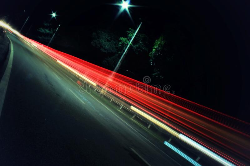 Lanzamiento de la noche fotografía de archivo