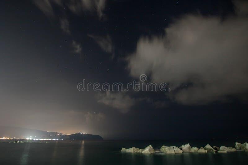Lanzamiento de la noche que sorprende foto de archivo libre de regalías