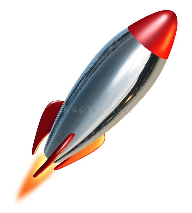 Lanzamiento de Rocket ilustración del vector