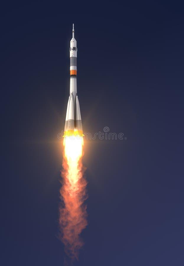 Lanzamiento de Soyuz-FG del cohete de portador ilustración del vector