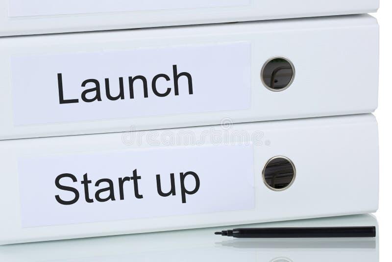 Lanzamiento de un comienzo encima del concepto de la empresa de negocios fotografía de archivo