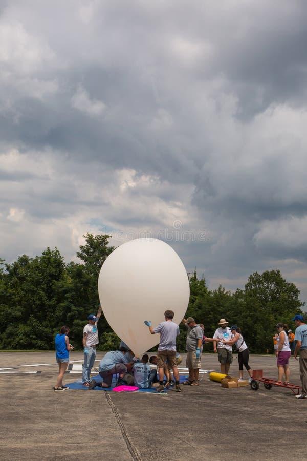 Lanzamiento del globo de tiempo imagen de archivo