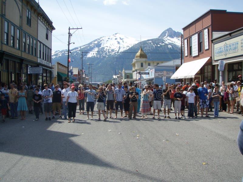 Lanzamiento del huevo de Skagway Alaska foto de archivo