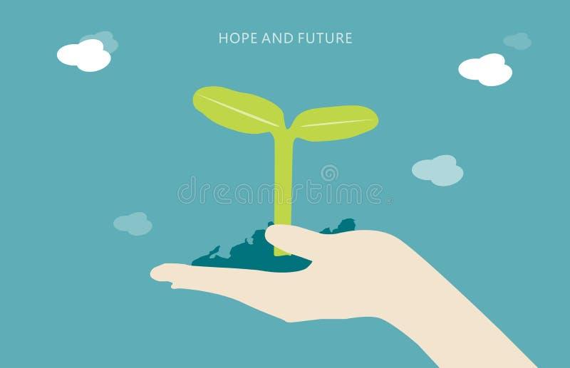 Lanzamientos del verde disponibles stock de ilustración