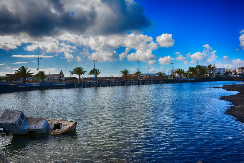 Lanzarote, Arrecife στοκ φωτογραφίες με δικαίωμα ελεύθερης χρήσης