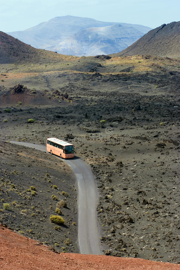 A Lanzarote bus stock photos