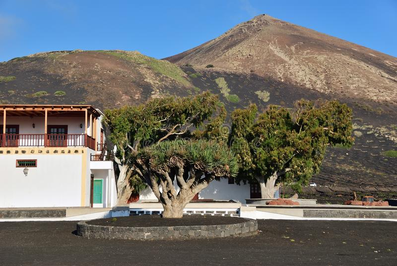 Lanzarote countryside. Canary Islands. Spain royalty free stock images