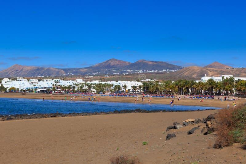 Lanzarote a des beaucoup et de belles plages images libres de droits