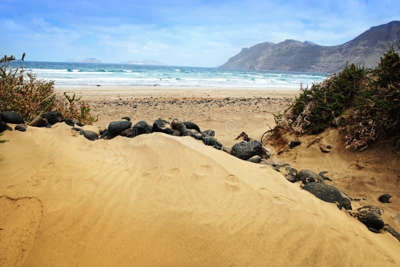 Lanzarote dune, Canary island stock photo