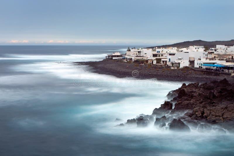 Lanzarote, EL Golfo fotos de archivo