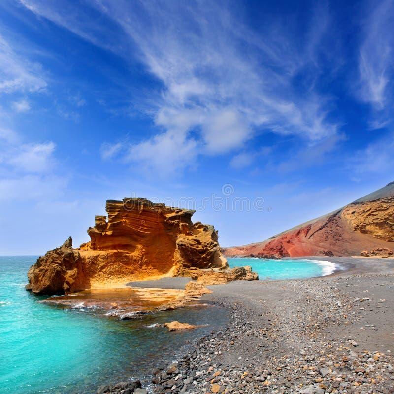 Lanzarote El Golfo Lago de los Clicos stock image