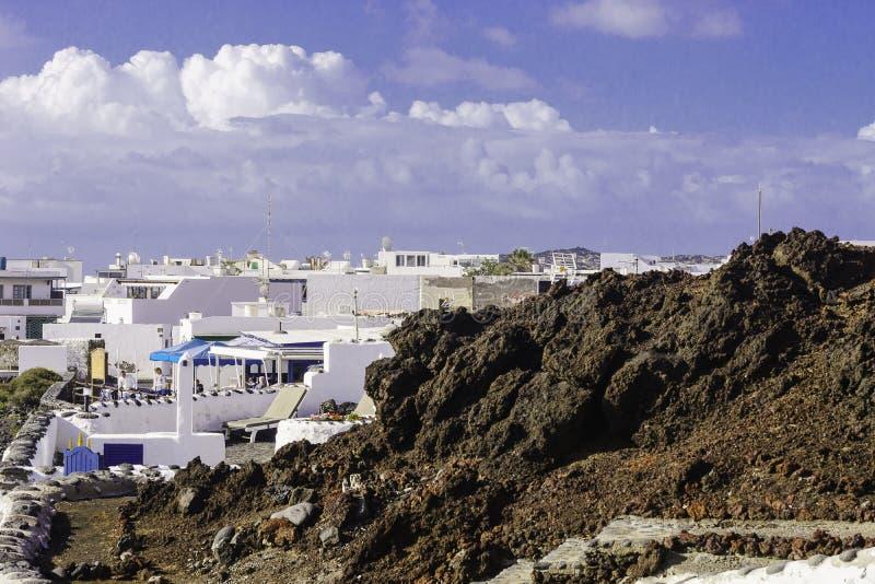 Lanzarote krajobraz zdjęcie royalty free
