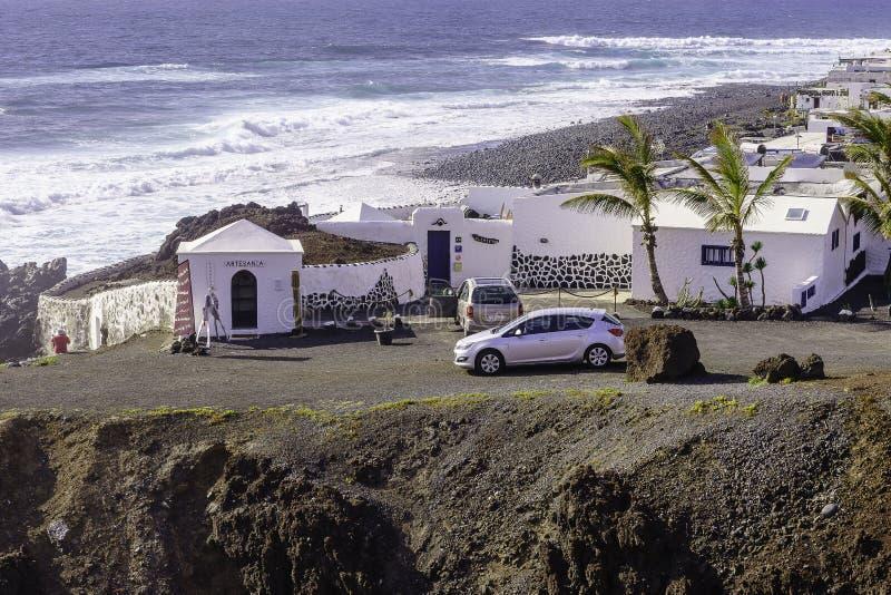 Lanzarote krajobraz zdjęcia stock