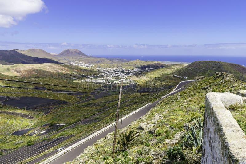 Lanzarote krajobraz zdjęcia royalty free
