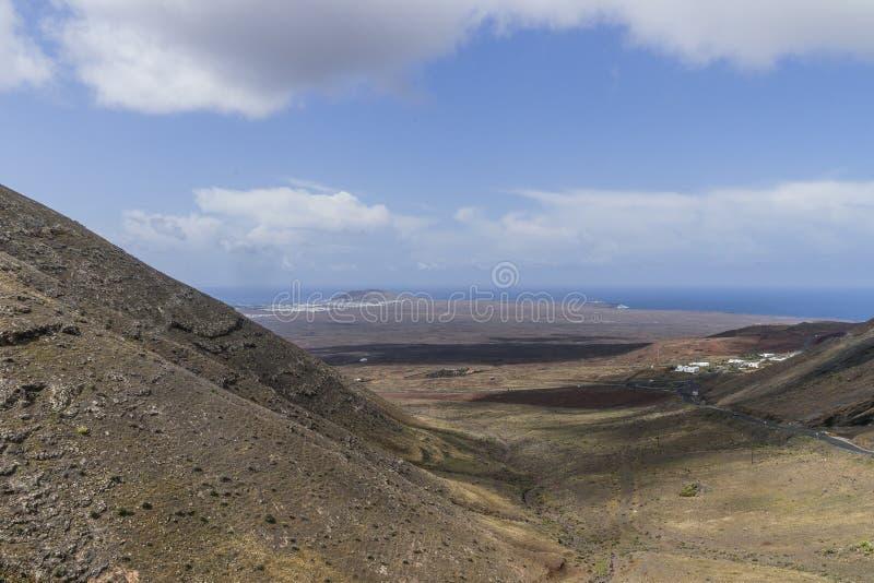 Lanzarote krajobraz w górach fotografia stock